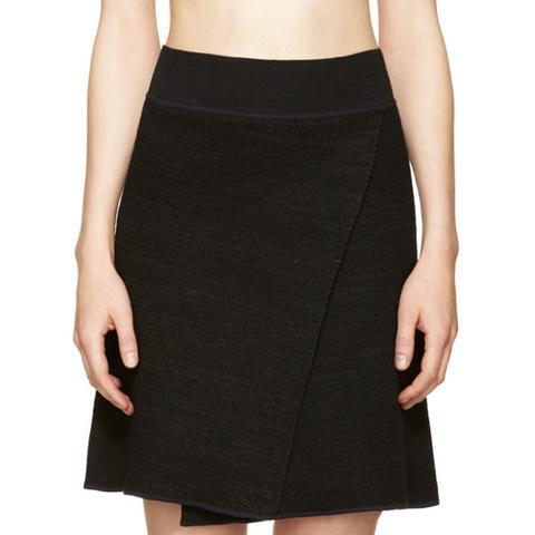 Black Knit Cashlin Skirt