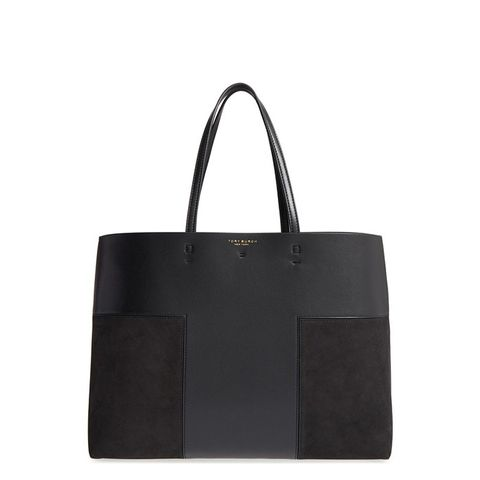Block T Leather Tote