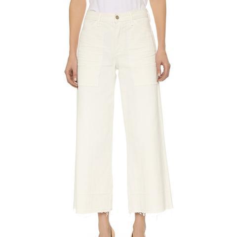 Melanie Cropped Wide Leg Jeans