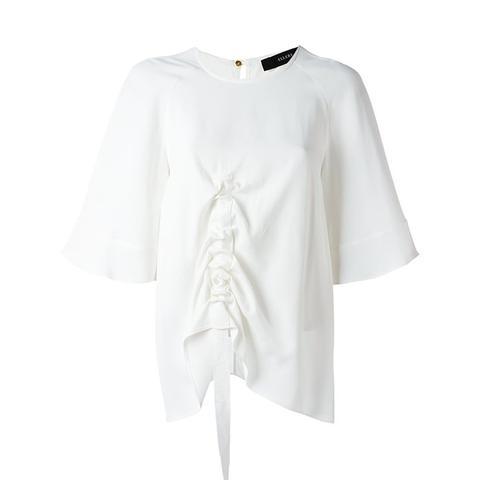 Ruffled Detail Shortsleeved T-Shirt