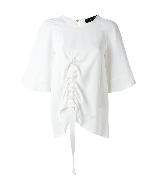 Ellery Ruffled Detail Shortsleeved T-Shirt