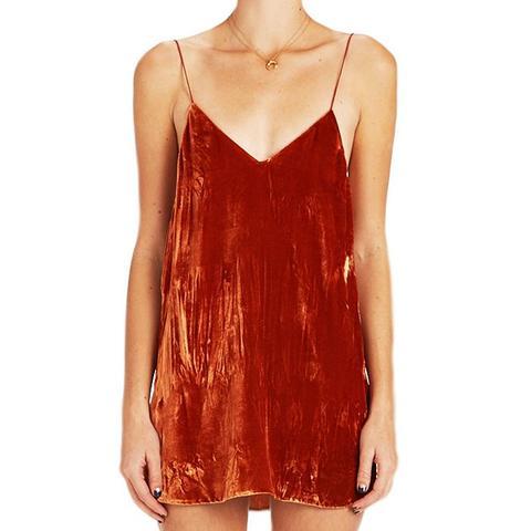 Crushed Velvet Zillah Slip Dress