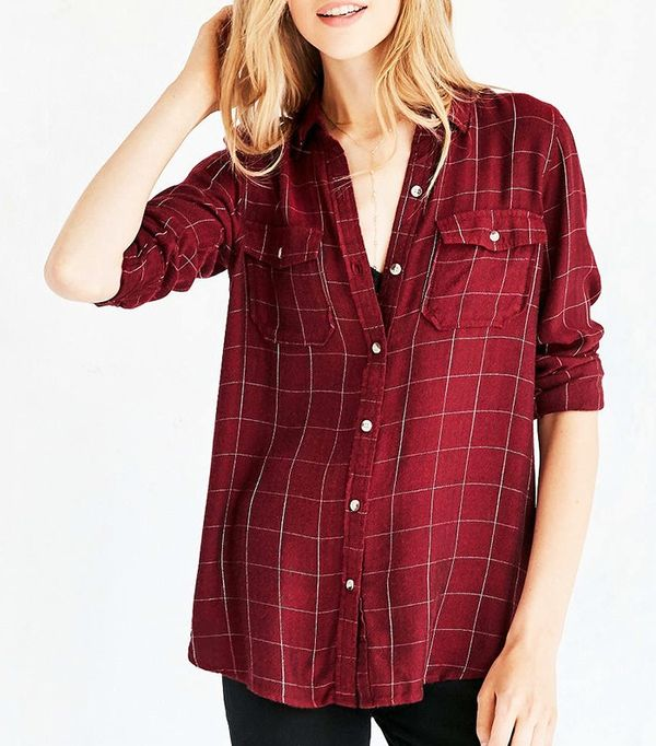 BDG Robbie Washed Button-Down Shirt