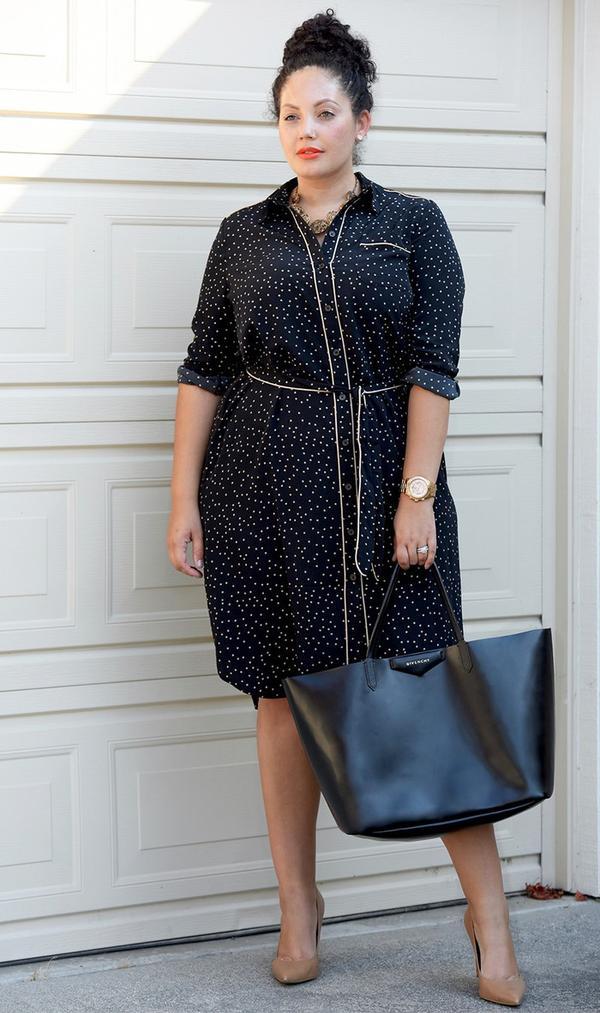 who what wear polka dot shirt dress