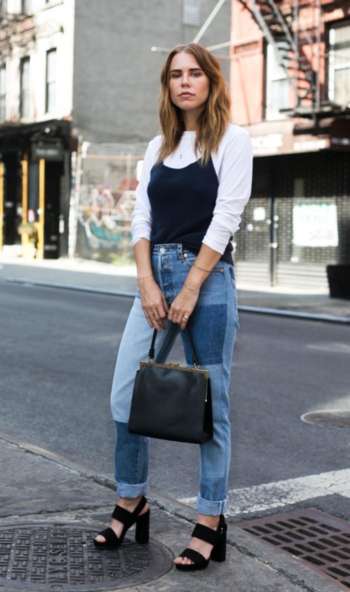 patch jeans platform sandals courtney trop