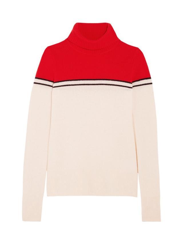 J.Crew Gadzooks Color-Block Wool Turtleneck Sweater