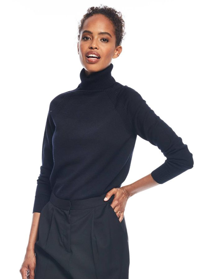 Zady Navy Turtleneck Sweater