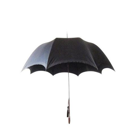 Edwardian Men's Silk Parasol Black Umbrella