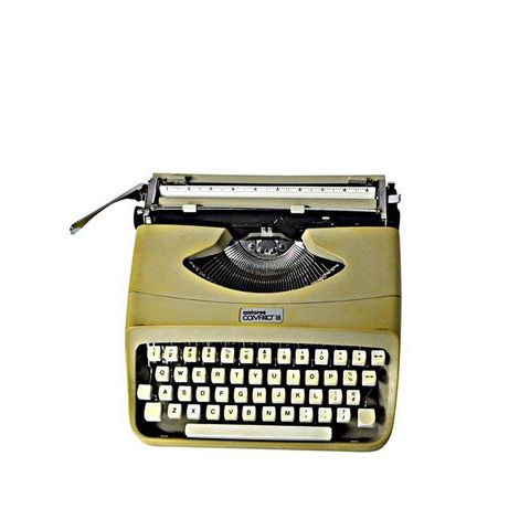 Italian Typewriter With Portable Case