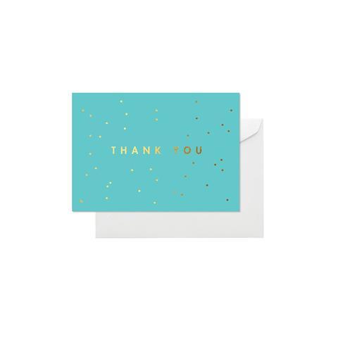 Aqua Confetti Cards Box of 8