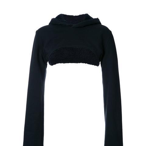 Reversible Cropped Lining Hoodie