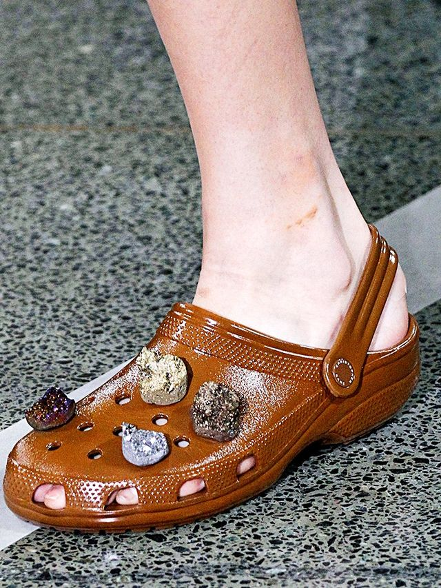 The brown Crocs and the crystals. Will you give it a go?