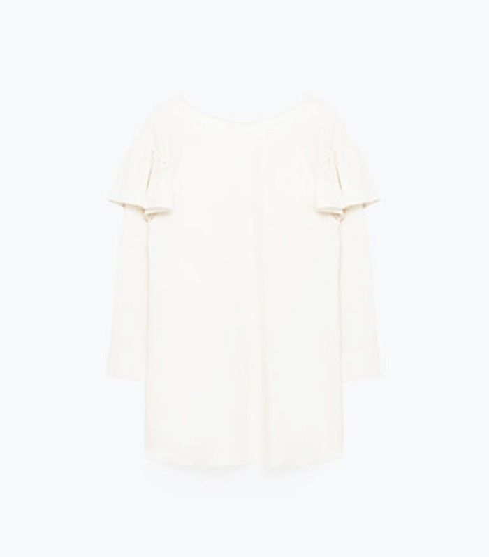 Zara sustainable collection white blouse