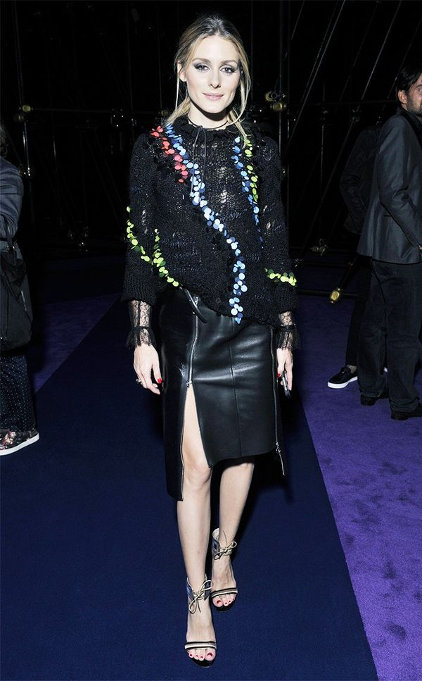 Olivia Palermo Versace show