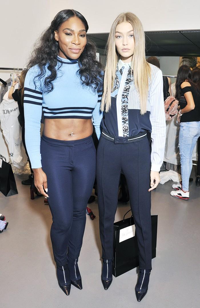 Serena Williams and Gigi Hadid Versace show