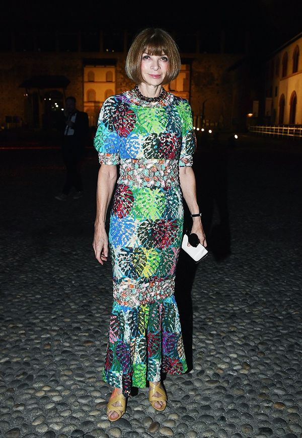 Anna Wintour Milan fashion week