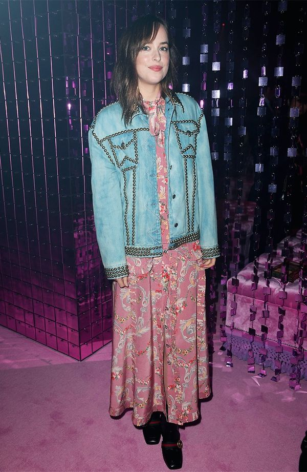 Dakota Johnson Gucci show
