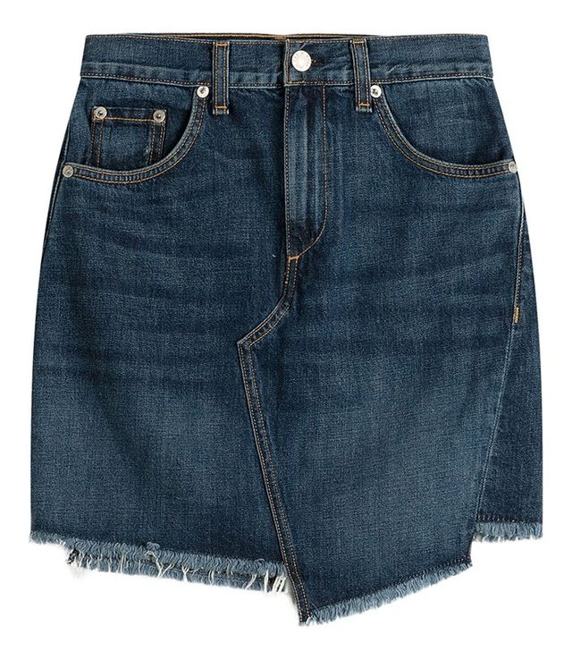 Rag & Bone Asymmetric Denim Skirt