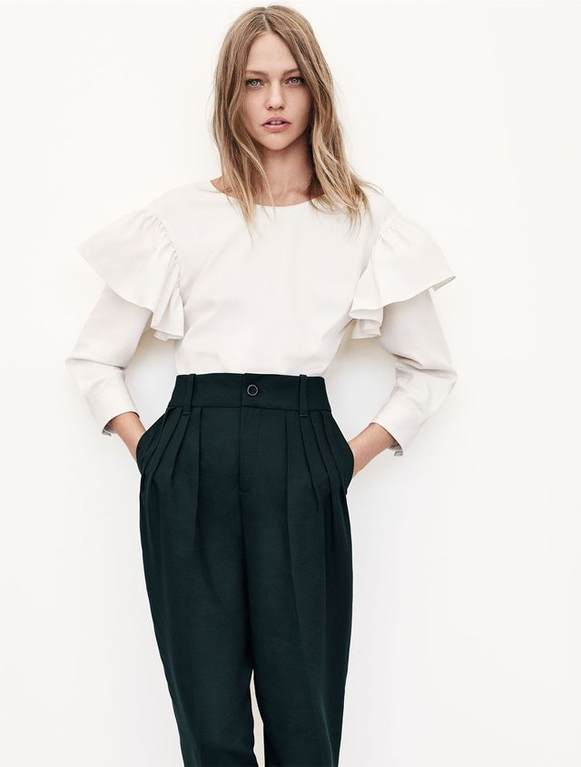 Zara Frilled Sleeve Blouse
