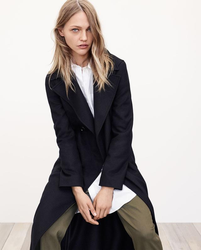 Zara Long Recycled Wool Coat