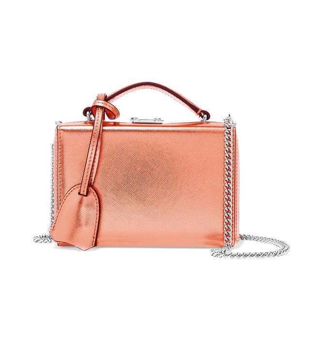 Mark Cross Grace Mini Metallic Shoulder Bag