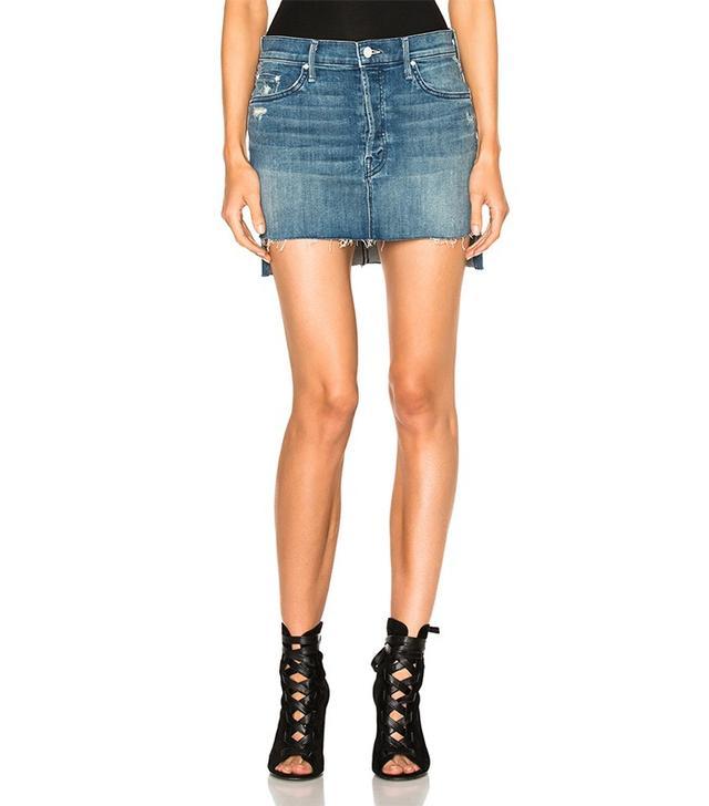 Mother Step Fray Mini Skirt