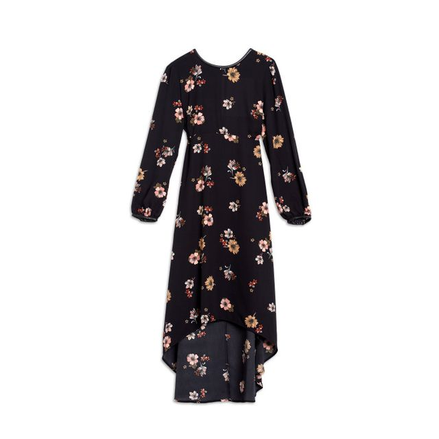 Who What Wear ™Long Sleeve Crepe Dress