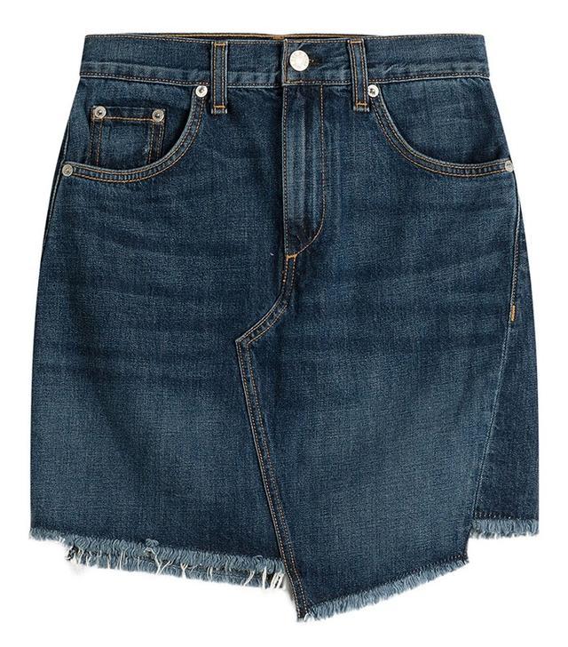 Rag & Bone Asymmetric Denim Skirt