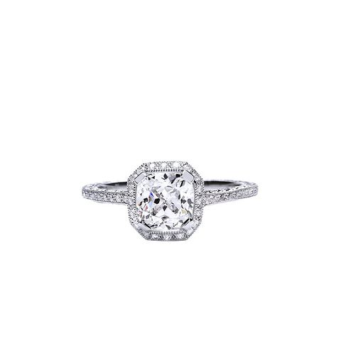 Beverley K Cushion-Cut Halo Ring