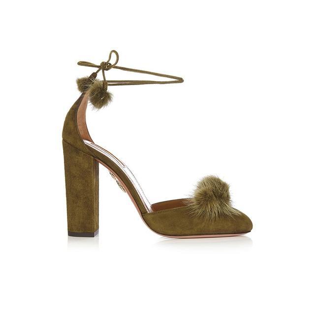 Aquazzura Wild Russian Fur Heels