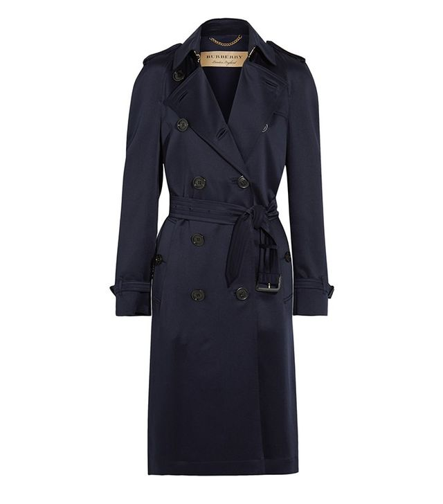 Burberry London Denverhil Silk-Satin Trench Coat