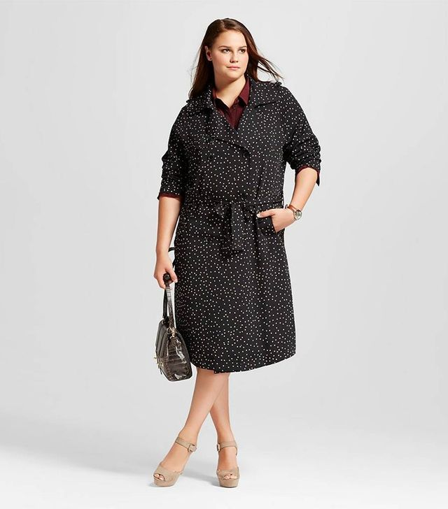Who What Wear Plus Size Drapey Trench