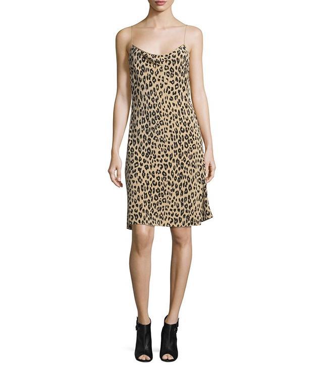 Kate Moss for Equipment Jessa Leopard-Print Slip Dress