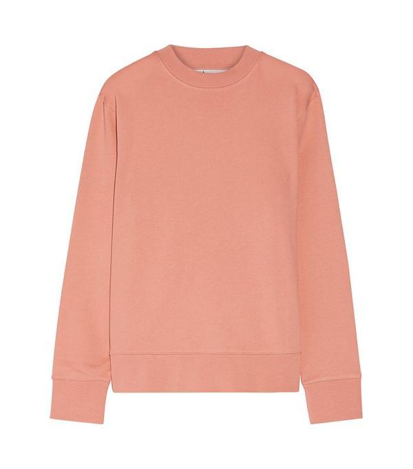 Acne Studios Carly Loopback Cotton-Jersey Sweatshirt