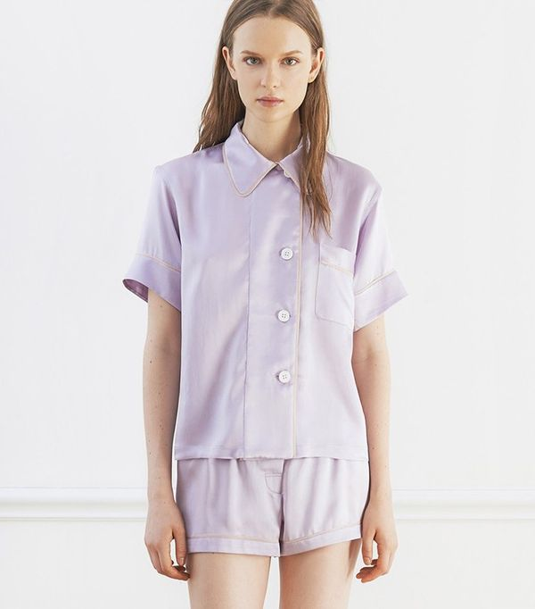 Araks Shelby Pajama Top and Tia Boxer in Lavender