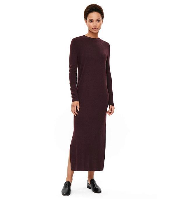 Cos Ribbed Merino Dress