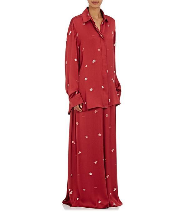 The Row Sisea Silk Stain Blouse and Paba Silk Satin Pants