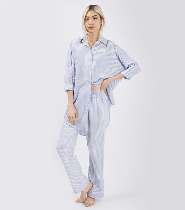 Topshop Striped Pyjama Nightshirt and Trouser