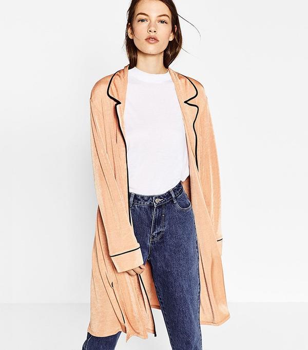Zara Pajama-Style Jacket