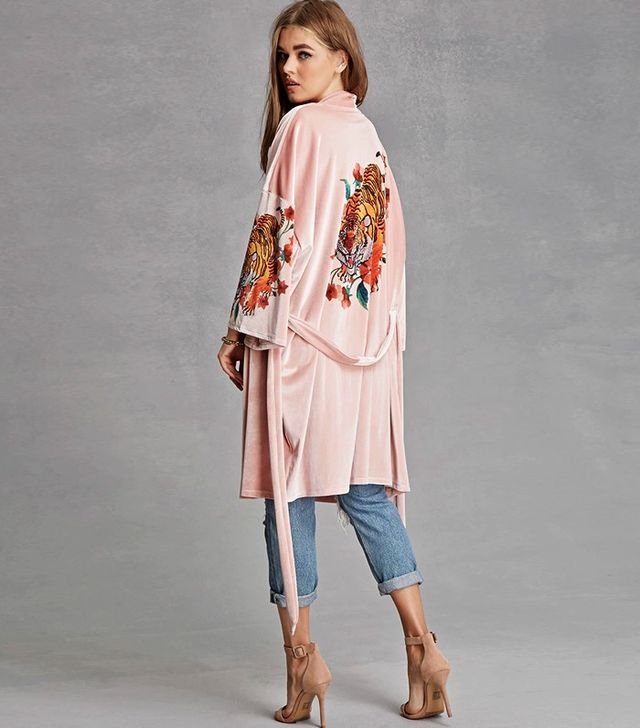 Jaded London at Forever 21 Panther Kimono