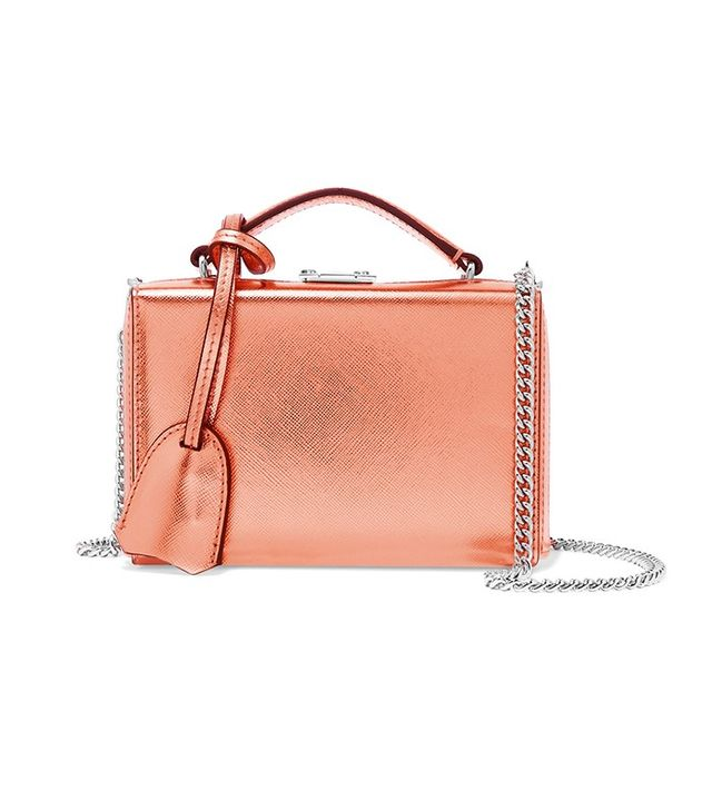 Mark Cross Grace Mini Metallic Shoulder Bag