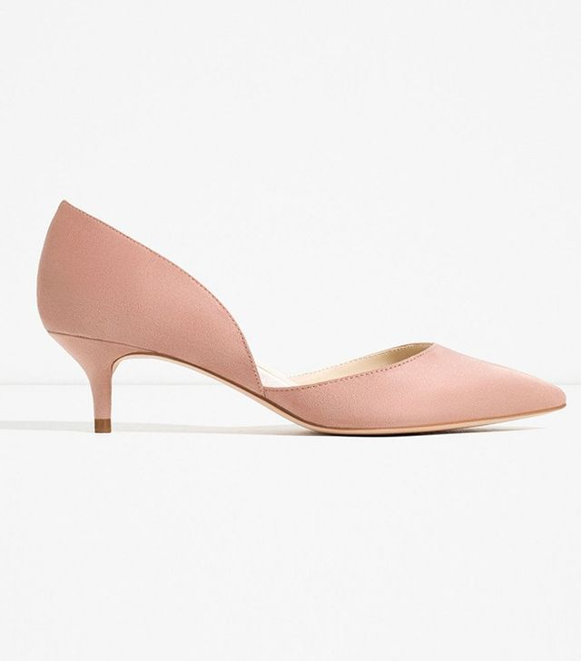 Zara Kitten Heel D'Orsay Shoes