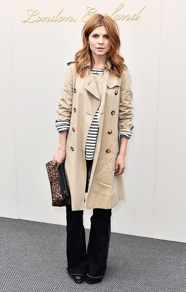 Clémence Poésy trench coat