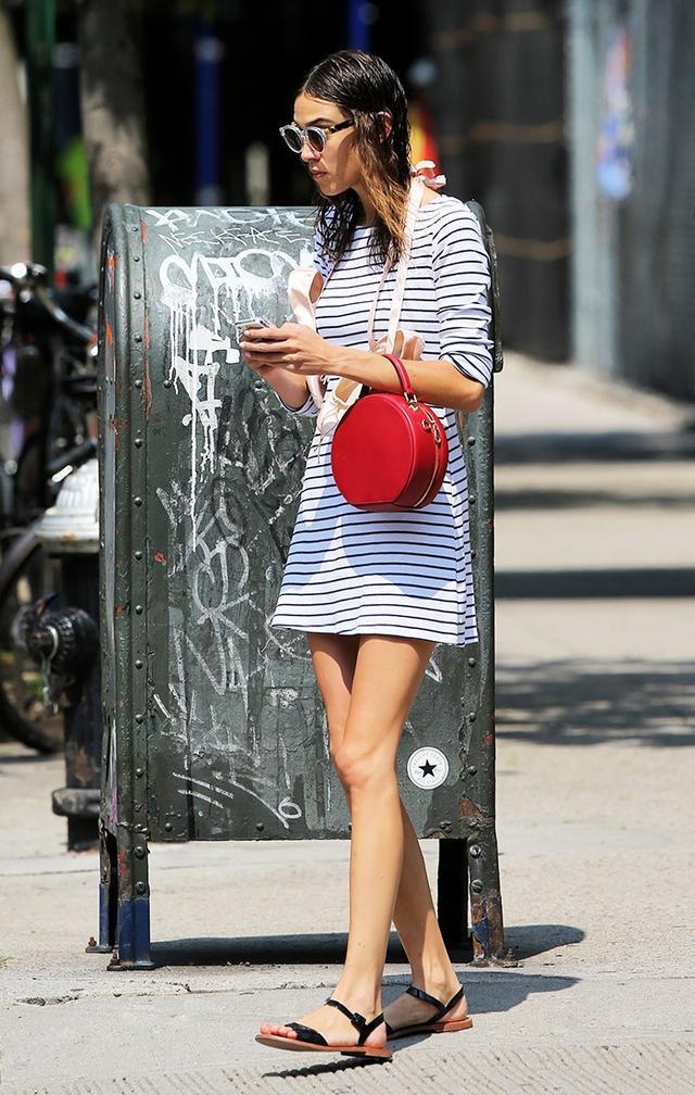 Alexa Chung striped dress