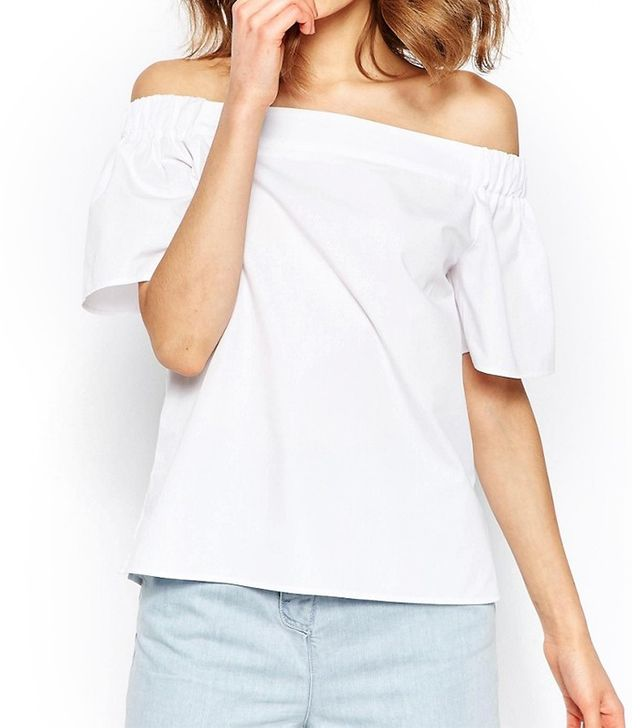 ASOS Off the Shoulder Top in Cotton