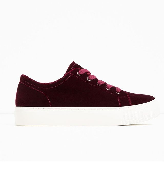 Zara Velvet Sneakers