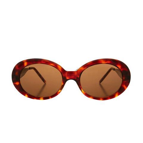 Grunge Mod Nirvana Oval Cat Eye Kurt Cobain Sunglasses