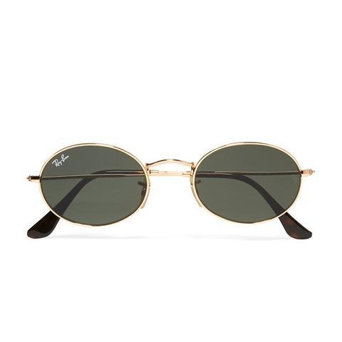 Icons Oval-Frame Gold-Tone Sunglasses