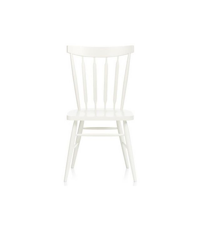 Crate and Barrel Willa White Wood Dining Chair