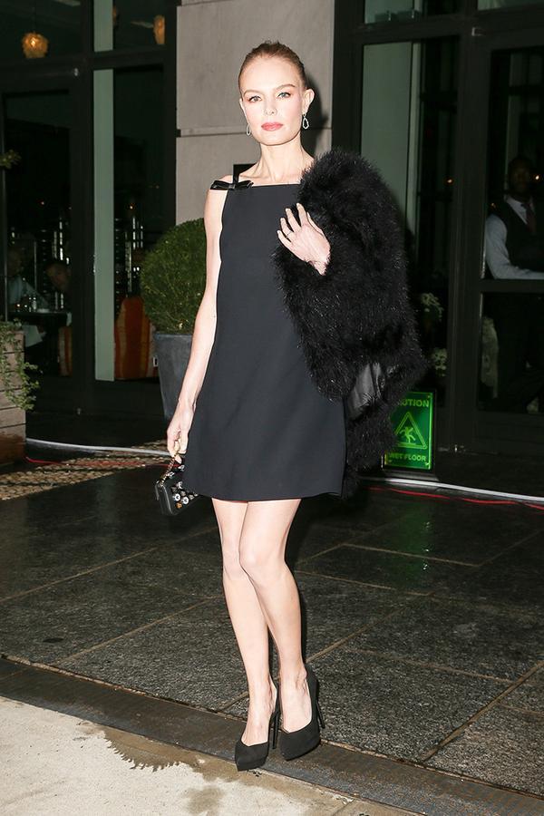 On Kate Bosworth: Miu Miu dress; Fendi Baguette Shoulder Bag($2000).